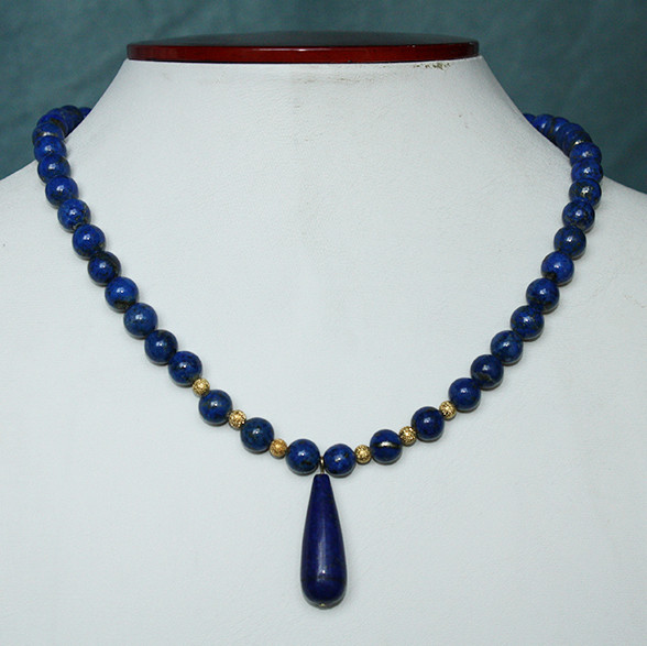 Lapis & gold necklace