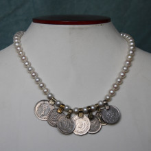 Pearl necklace with Afghan bead