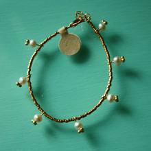 Vermeil & pearl bracelet
