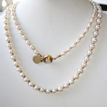 white pearl & clasp