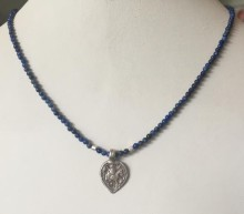 Lapis Necklace with Antique Indian Silver