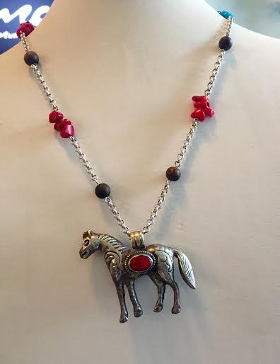 Tibetan Horse Necklace