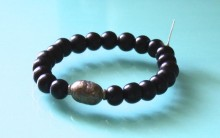 Wood Mala Prayer Bead Bracelet